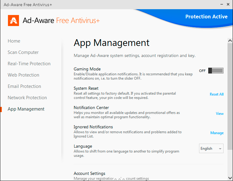 Ad-Aware Free Antivirus Screenshot