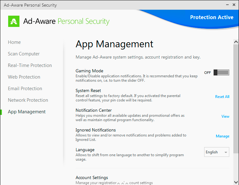 Click to view Ad-Aware Personal Security screenshots