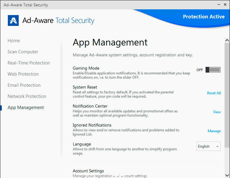 Click to view Ad-Aware Total Security screenshots